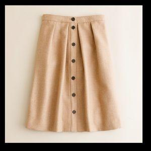 j. crew Flair skirt in double-serge wool